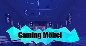 Gaming Möbel wie Gaming Stuhl, Gaming Couch, Gaming Tisch uvm. Gaming Setups mit Beleuchtung RGB / LED